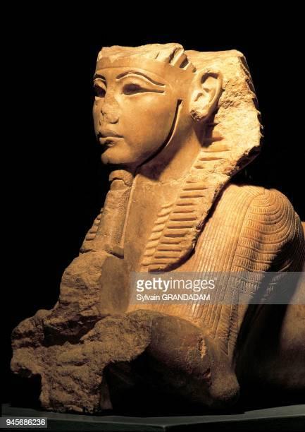 Egypt,Luxor,the Museum,alabaster sphinx,Tut-en-Kamon era.