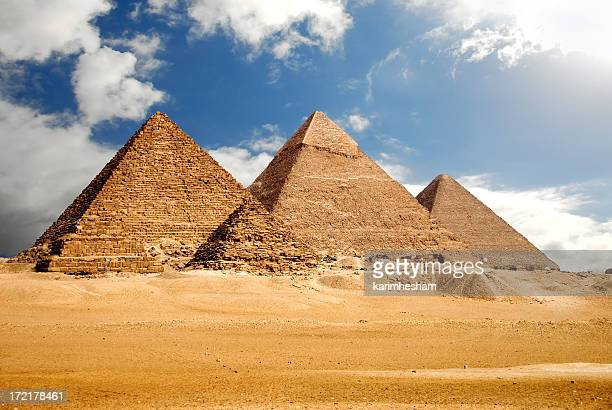 egyptology - giza pyramids stock pictures, royalty-free photos & images