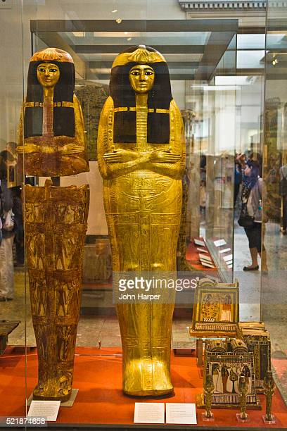 egyptology room, british museum, london - egyptian artifacts stock pictures, royalty-free photos & images