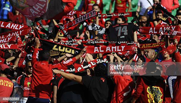 Egypts Al Ahly SC fans wait for the FIFA Club World Championship match between China's Guangzhou Evergrande FC and Al Ahly SC at Agadir Stadium on...