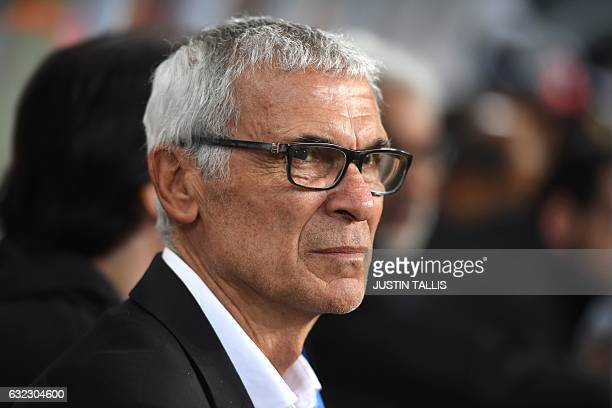Egypt's Argentinian coach Hector Raul Cuper attends the 2017 Africa Cup of Nations group D football match between Egypt and Uganda in PortGentil on...