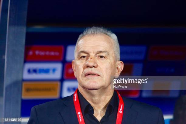 Egypt's coach Javier Aguirre looks on during the 2019 Africa Cup of Nations football match between Egypt and Zimbabwe at Cairo International Stadium...