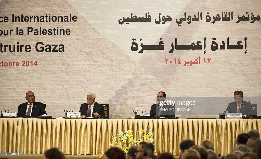 EGYPT-PALESTINIAN-ISRAEL-GAZA-DIPLOMACY-CONFERENCE : Photo d'actualité