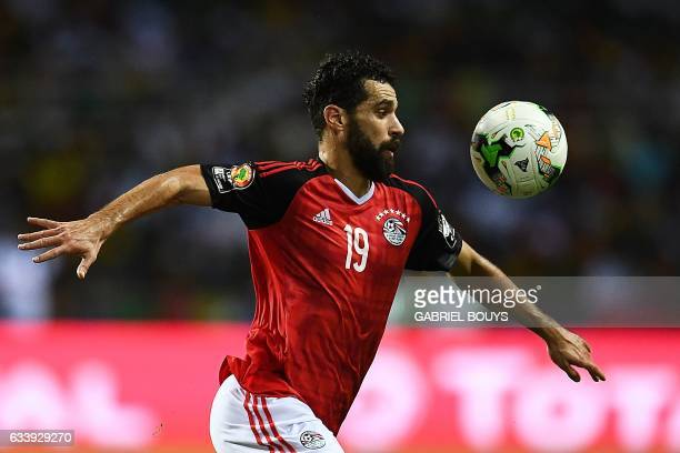 Egypt's forward Abdallah Said plays the ball during the 2017 Africa Cup of Nations final football match between Egypt and Cameroon at the Stade de...