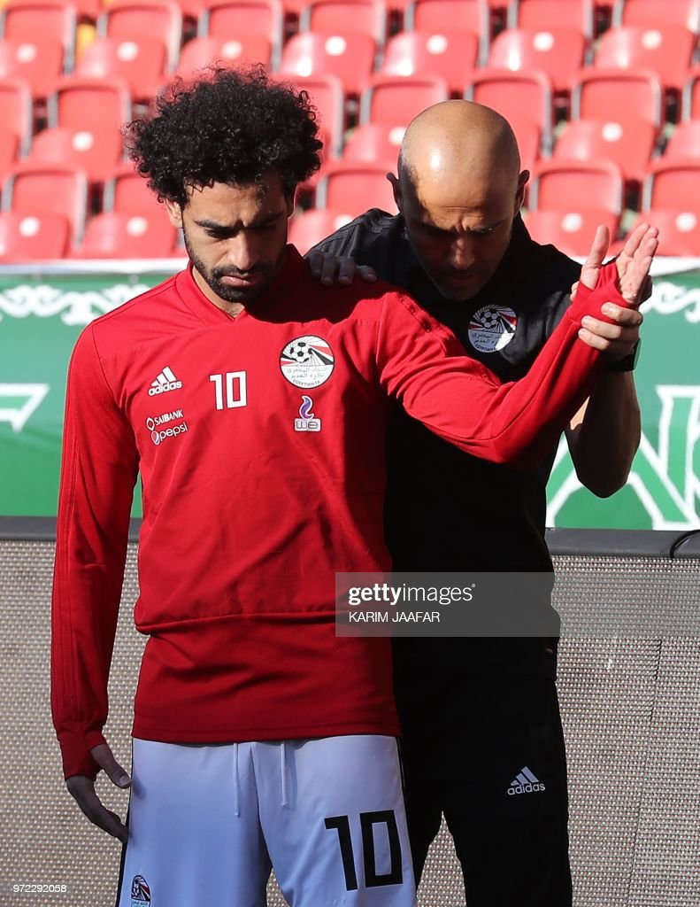 Image result for mohamed Salah training in russia
