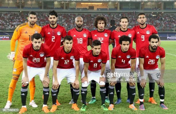 Egypt's goalkeeper Sherif Ekramy defender Ali Gabr midfielder Shikabala midfielder Amr Warda midfielder Ramadan Sobhi forward Ahmed Hassan Mahgoub...