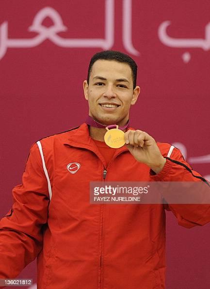 Egypts Ibrahim Abdelbaki Poses With His Pictures