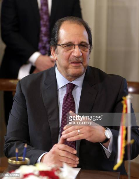 Egypt's interim intelligence chief MajorGeneral Abbas Kamel attends a meeting with his Sudanese counterpart and with Egyptian and Sudanese Foreign...