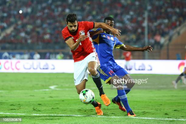 Egypts Mahmoud Hassan fight for the ball with Swaziland Siyabonga Mdluli during the Africa Cup of Nations qualifier match between Egypt and Swaziland...