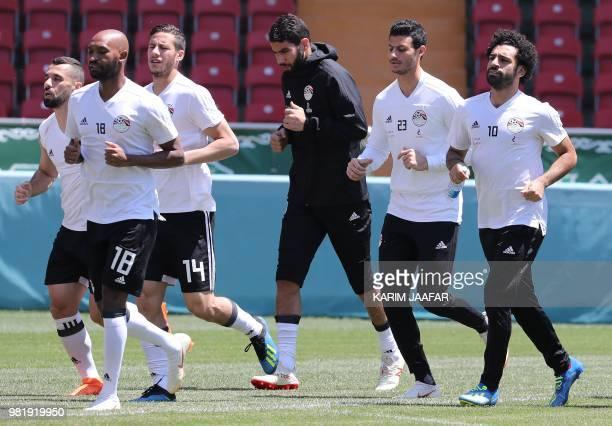 Egypt's midfielder Abdallah Said Egypt's forward Mahmoud 'Shikabala' Abdel Razek Egypt's midfielder Ramadan Sobhi Egypt's goalkeeper Essam El Hadary...