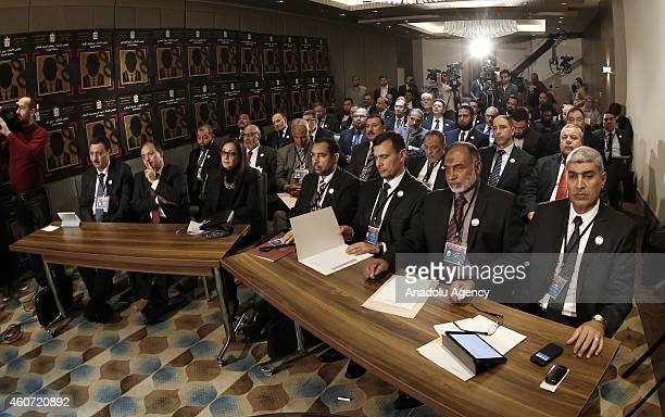 Egypt's Mohamed Morsi Government's former MPs called themselves Egyptian people's legitimate representatives of independent parliament attend a...