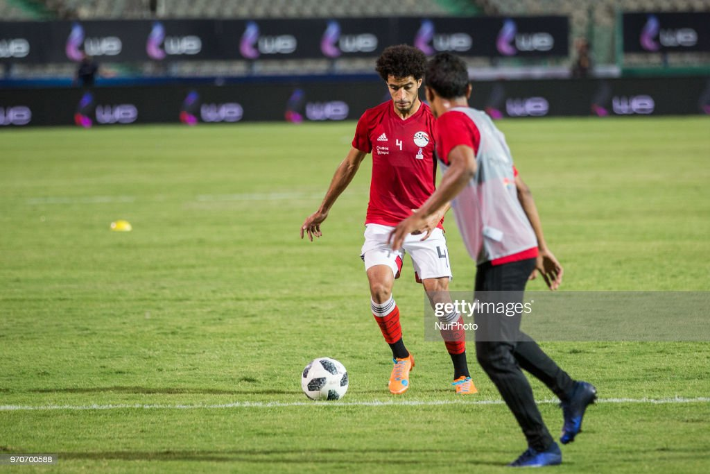 Egypt's national football team takes part in the final practice training session at Cairo international stadium in Cairo on June 9, 2018. Egypt prepares for FIFA World Cup championship running in Russia from 14 June to 15 July 2018.