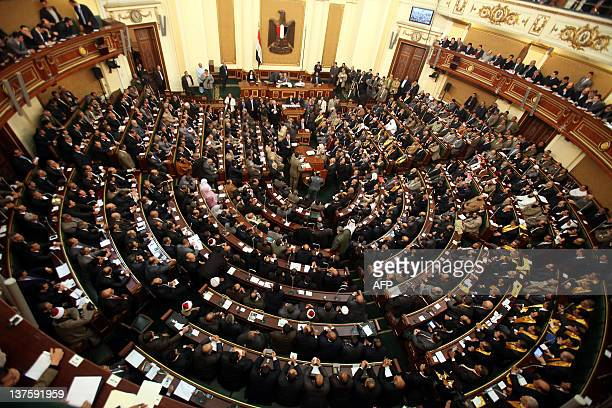 Egypt's newly elected parliament meets for its first session in Cairo on January 23 2012 Islamist MPs took centre stage as Egypt's parliament met for...