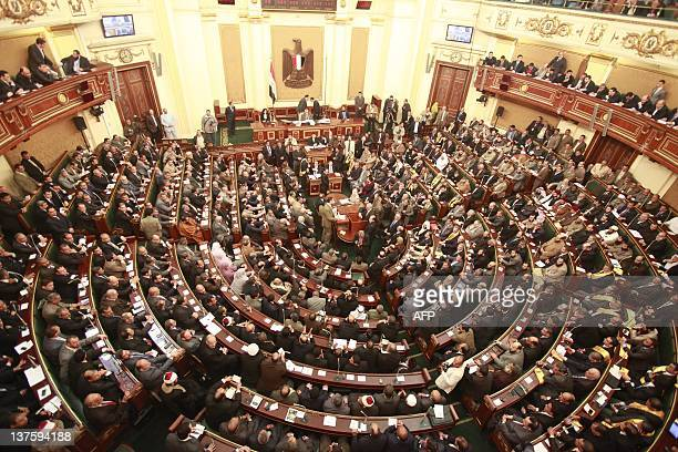 Egypt's newlyelected parliament meets for its first session in Cairo on January 23 2012 Islamist MPs took centre stage as Egypt's parliament met for...
