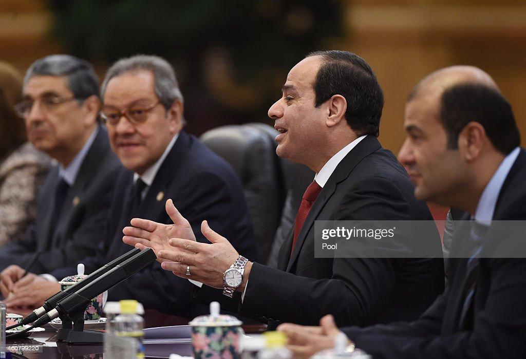 President Abdel Fattah al-Sisi of Egypt Visits China : News Photo