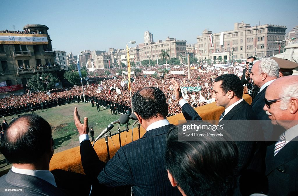 Rallying For Sadat's Visit To Jerusalem : News Photo