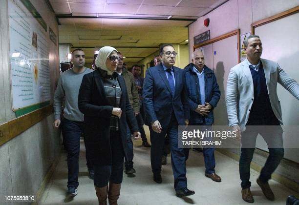Egypt's Prime Minister Mostafa Madbouli and Health Minister Hala Zayed tours the hospital where Vietnamese victims of an attack on a tourist bus...