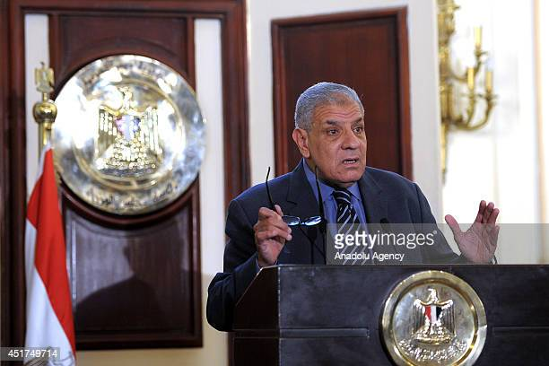 Egypt's Prime Minister states in a press conference at the Cabinet building in central Cairo that Egypt's poverty rate has risen to 263 percent on...