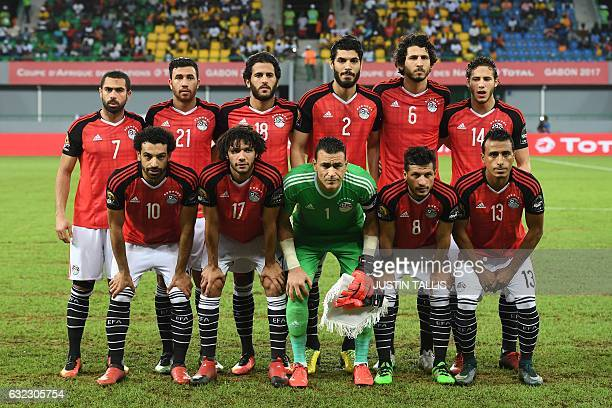 Egypt's squad defender Ahmed Fathi midfielder Mahmoud Hassan forward Marwan Mohsen defender Ali Gabr defender Ahmed Hegazy midfielder Ramadan Sobhi...