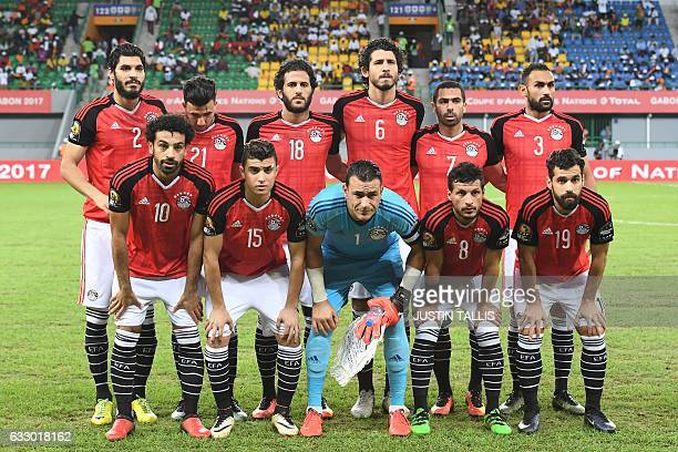 Egypt's squad defender Ali Gabr midfielder Mahmoud Hassan forward Marwan Mohsen defender Ahmed Hegazy defender Ahmed Fathi midfielder Ahmed...