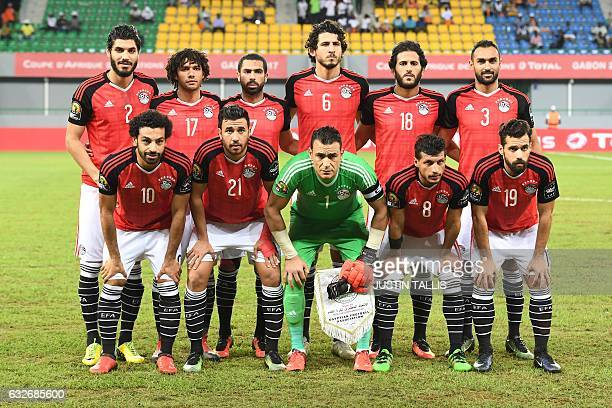 Egypt's squad defender Ali Gabr midfielder Mohamed Elneny defender Ahmed Fathi defender Ahmed Hegazy forward Marwan Mohsen midfielder Ahmed...