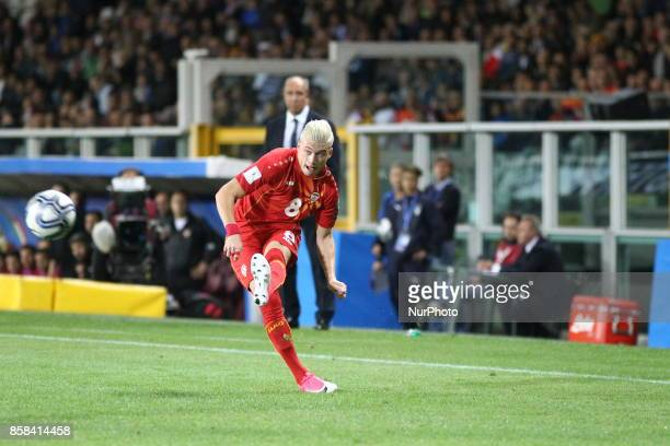 Egzijan Alioski in action during the FIFA World Cup European Qualifying match between Italy and FYR Macedonia at Olympic Grande Torino Stadium on 6...
