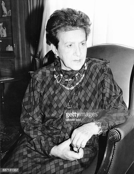 Ehefrau des Pianisten Vladimir Horowitz, Porträt, - 1986Foto: Erika Rabau