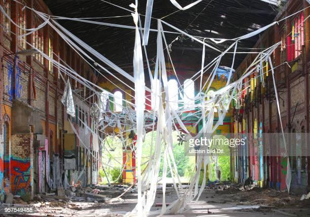 ehemaliger Schlachthof Halle Saale Ansicht der Schlachthof Halle als open free Galerie Grafitti Kunstinstallation Sachsen Anhalt