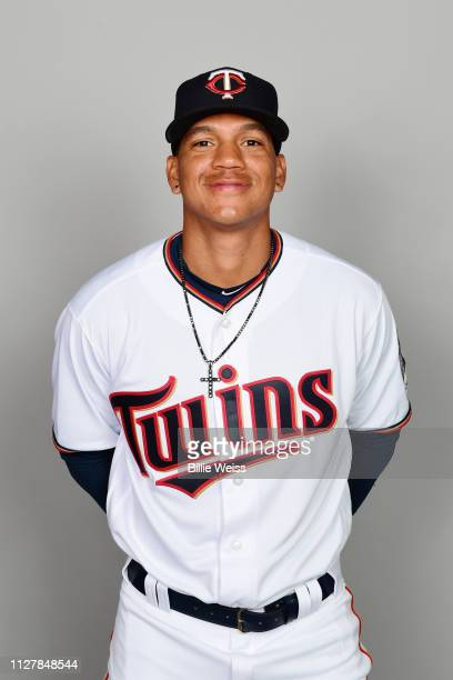 Ehire Adrianza#13 of the Minnesota Twins poses during Photo Day on Friday February 22 2019 at CenturyLink Sports Complex in Fort Myers Florida