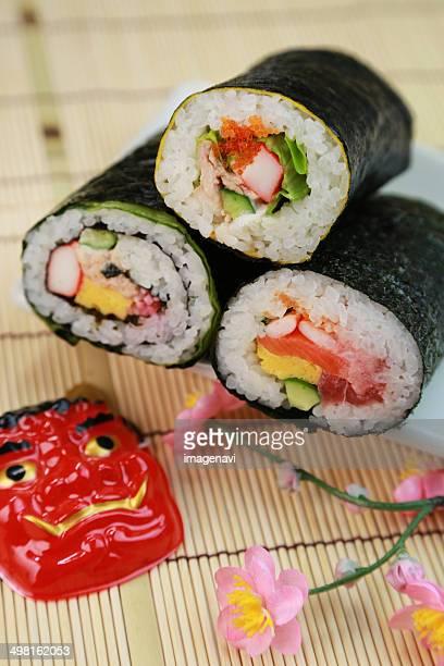 Ehomaki (sushi roll eaten during setsubun)