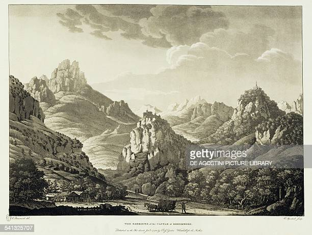 Ehremberg castle aquatint from Travels through the Rhaetian Alps in 1786 by JeanFrancois Albanis Beaumont London 1792 Austria 19th century