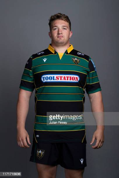 Ehren Painter of Northampton Saints poses for a portrait during the Northampton Saints squad photocall for the 20192020 Gallagher Premiership Rugby...