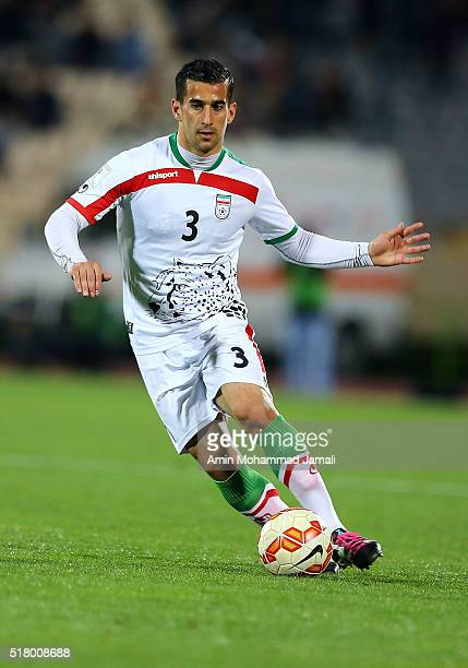 Ehsan Haj Safi of iran in action during 2018 FIFA World Cup Qualifier match between Iran against Oman on March 29 2016 in Tehran Iran