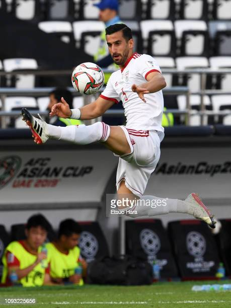 Ehsan Haji Safi of Iran in action during the AFC Asian Cup Group D match between Vietnam and Iran at Al Nahyan Stadium on January 12 2019 in Abu...