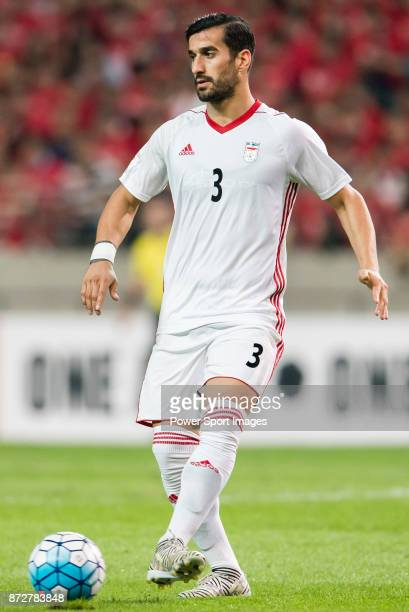 Ehsan Haji Safi of Iran in action during their 2018 FIFA World Cup Russia Final Qualification Round Group A match between Korea Republic and Islamic...