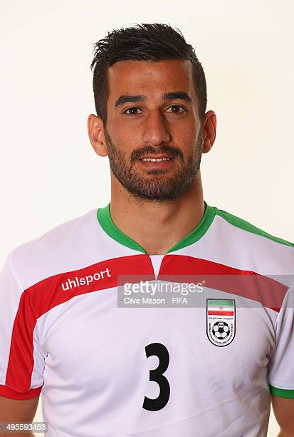 Ehsan Haji Safi of Iran poses during the official FIFA World Cup 2014 portrait session on June 4 2014 in Sao Paulo Brazil