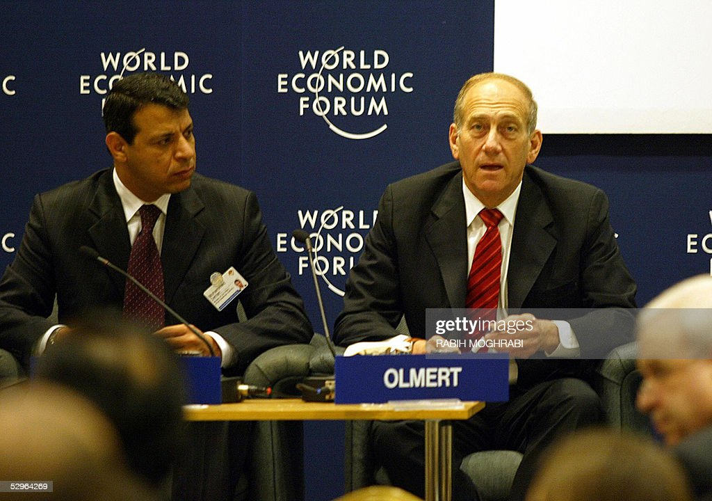 Ehud Olmert (R), Vice-Prime Minister and : News Photo