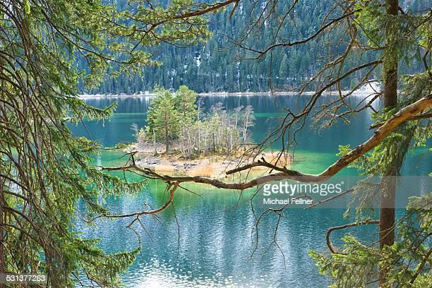 Eibsee in Bavarian Alps