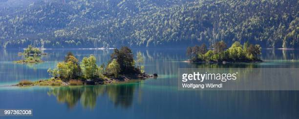 eibsee islands - wolfgang wörndl stock pictures, royalty-free photos & images