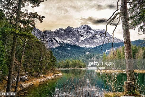 Eibsee with Zugspitze
