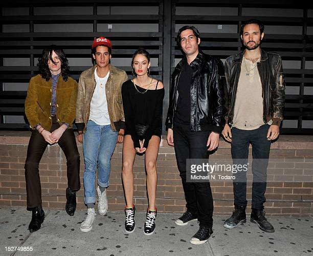 Eic Parisi Carlos Velazquez Nicole Trunfio Eric Reeves and Zachary Chick of Henry Blak attend the Avenue A Soundcheck Party With Henry Blak Featuring...