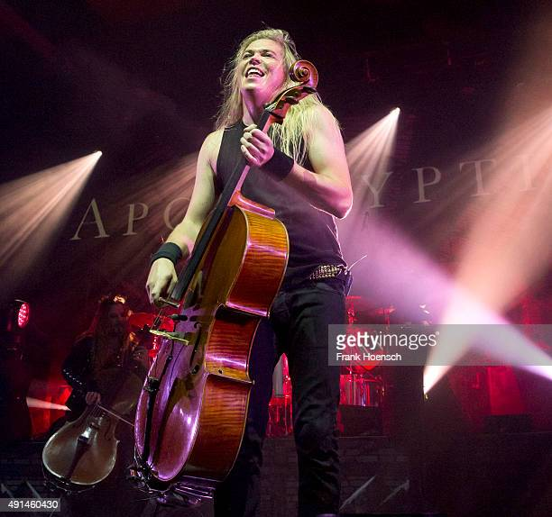 Eicca Toppinen of Apocalyptica performs live during a concert at the Columbiahalle on October 5 2015 in Berlin Germany