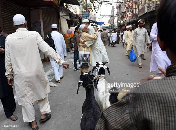 Eid alAdha celebrations in Old Delhi on September 13 2016 in New Delhi India Muslims across the world are preparing to celebrate the annual festival...