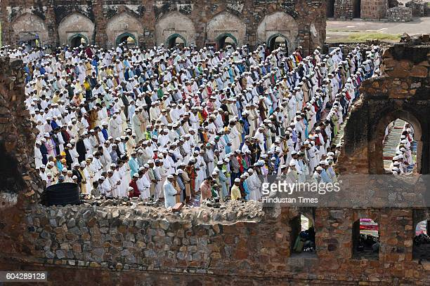 Eid alAdha namaz being offered at Ferozshah Kotla on September 13 2016 in New Delhi India Muslims across the world are preparing to celebrate the...