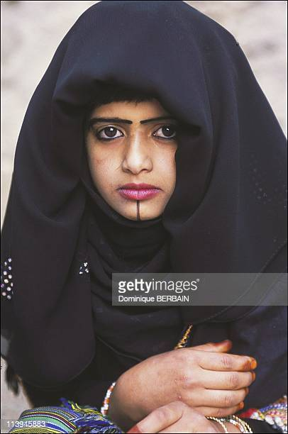 Eid alFitr festivities celebrated by the Flower men of the Assir In Saudi Arabia In February 2003Hamer's daughter On her chin is a traditional tatoo...