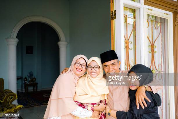 eid mubarak - indonesian culture stock pictures, royalty-free photos & images