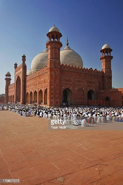 Eid Prayers at Badhshahi Masjid