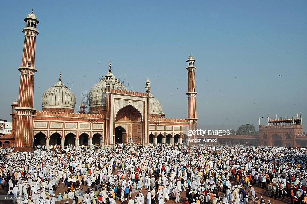 Eid ul Fitr at Jama Masjid, Delhi : Stock Photo