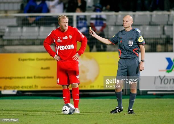 Eidur GUDJOHNSEN / Tony CHAPRON Auxerre / Monaco 14e journee Ligue 1 Stade Abbe Deschamps