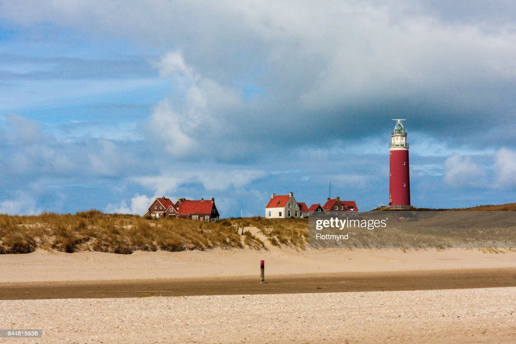 Eierland Lighthouse on the island of Texel, the Netherlands : Stock Photo